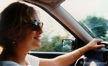Me driving BB the Lancia through Tuscany