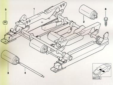 sport seat diagram bmw z3 seat rail bushing