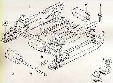 standard seat diagram bmw z3 seat rail bushing